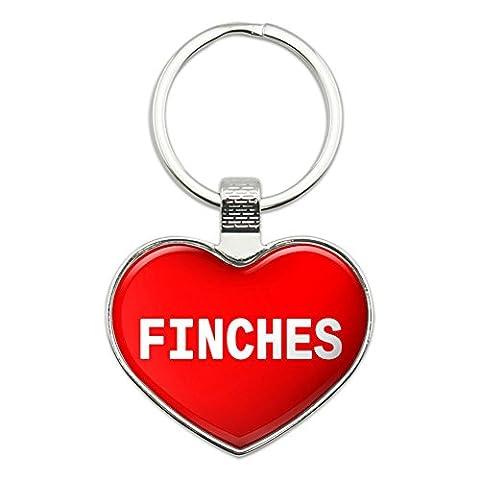 Metall Schlüsselanhänger Ring I Love Herz Tiere e-j Finches