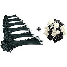 intervisio 600 pz Fascette Stringicavo per Cablaggio di Plastica Nero