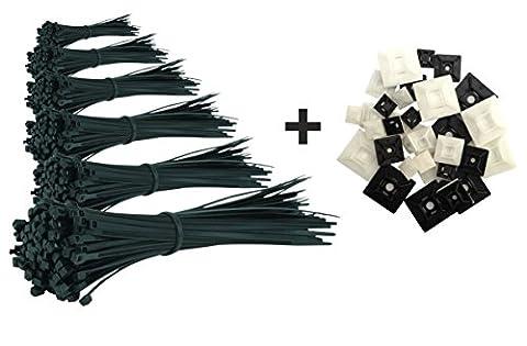 Gamme de 600 Serre-Câbles Premium / Attaches-Câble Noir de 80/100/140/160/200/292mm