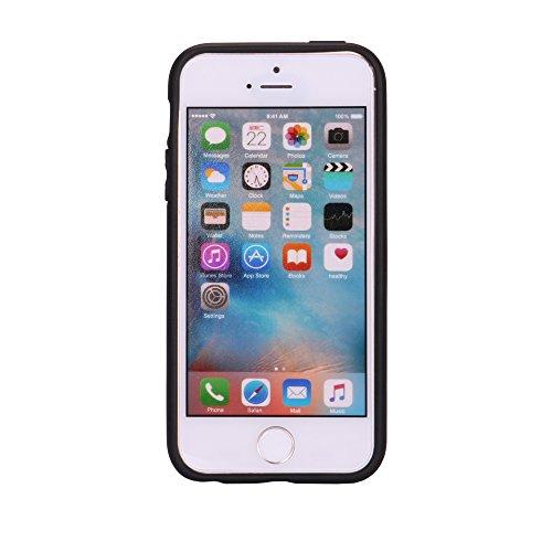"""iPhone 5s Hülle, [Neo Hybrid] CLTPY iPhone SE Dual Layer Tasche Schwarz Weichsilikon Inner Etui & Hartplastik Rückdeckel, Ultra Protektiv Militärischer Armor Schale Fall für 4.0"""" Apple iPhone 5/5s/SE  Rose Rosa A"""