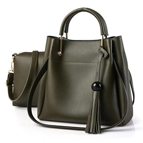 CELO PU moda Duro per mettere la borsa delle signore Commute la festa della madre Borsa a tracolla obliqua della traversa delle donne , Dark Gray dark green