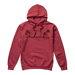 Hot Tuna Men's Paradise Hoodie, (Antique Red ACR), Large