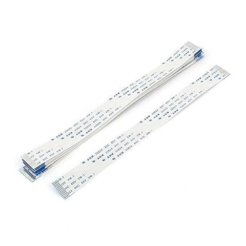 sourcingmap® 20Stk 0,5mm Umfang 13 Pin AWM 80C 60V VW-1 flexibles Flach Kabel FFC FPC 160mm