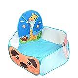 Olprkgdg Kinder Cartoon Spielzelt Giraffe 1,2 m Schießen Ozean Ball Pool Wave Ball Pool (Color : Blue)
