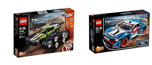 LEGO Technic 2er Set: 42065 Ferngesteuerter Tracked Racer + 42077 Rallyeauto