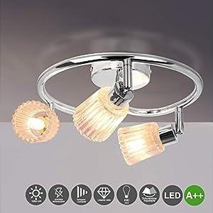 LED Deckenleuchte,3 Flammige Deckenlampe LED Spirale Wohnzimmerlampe front wandleuchte Deckenstrahlern Spotlight mit 3X4W G9 Leuchtmittel,Warmes Weiß