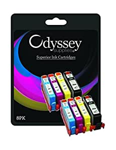 Odyssey Supplies® - 8 x Compatible HP 364XL Multipack High Capacity Printer Ink Cartridges For Photosmart B109a, B109n, B109d, B109f, B110a, B110c, B110e, B111, B210a, B210c, B211, C410, C410b, C309a, C309n, C309g, C310a, B209a, B209c, B010a, B8550, B8553, C5324, C5380, C5383, C5390, C6300, C6324, C6380, D5400, D5460, 5510, 5515, 6510, 7510, 2 x black, 2 x cyan, 2 x magenta, 2 x yellow....