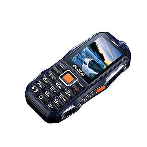 Costume Outdoor Handy - Costume Unlocked GSM Cell Phone English Keyboard Dual Sim Mobile Phone,12000mAh Battery, 2.4 inch, Long Standby time (Blau)