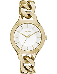 DKNY Damen-Armbanduhr Analog Quarz Edelstahl NY2217