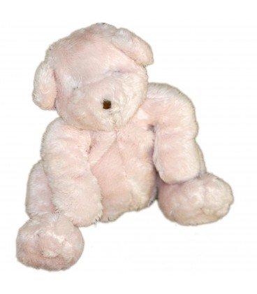 Doudou Peluche ours rose DPAM Du Pareil au Meme 20 cm