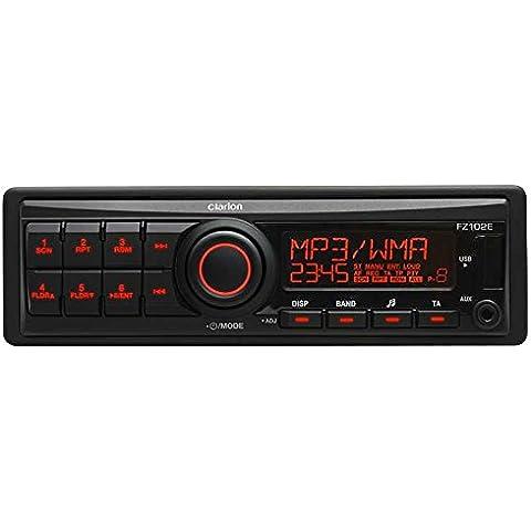 Clarion FZ102E sintonizador de CD/DVD para el coche - Radio para coche (87.5 - 108 MHz, 153 - 279 kHz, Negro, 178 x 50 x 100