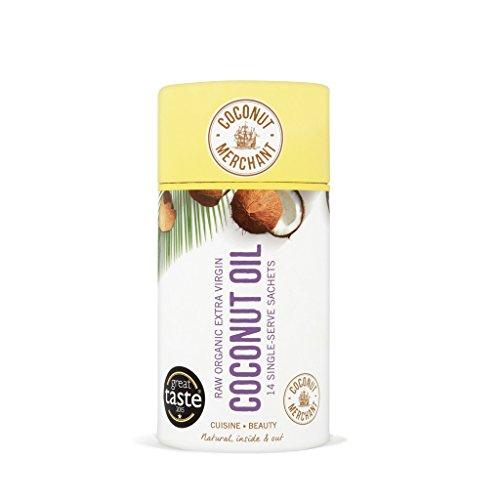 Coconut Merchant Blanqueador Dental Natural a base de Aceite Orgánico Puro para Oil Pulling - Bolsita para Untar 14 x 10ml