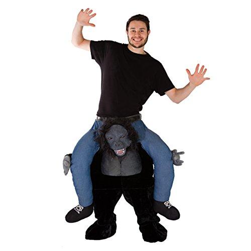 Aufsitzkostüm Prämie Gorilla kostüm für Erwachsene Affe Ride Me Carry - Für Affe Halloween Kostüm Erwachsene