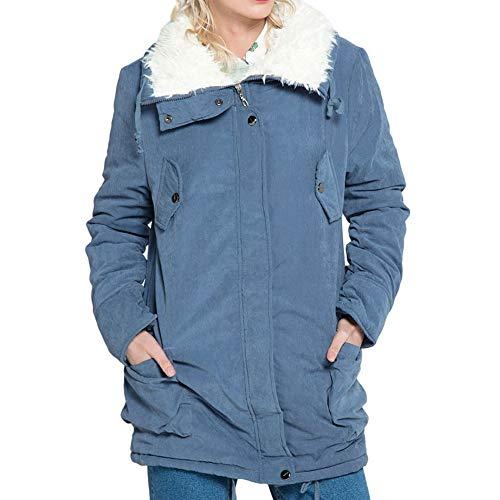 JURTEE Damen 2019 Jacken Winter Fleece Lange Hülse Mit Kapuze Im Freienwind Warme Reißverschluss Taschen Jacken ()