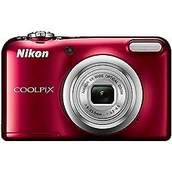 """Nikon COOLPIX A10 Appareil-photo compact 16.1MP 1/2.3"""" CCD (dispositif à transfert de charge) 4608 x 3456pixels Rouge - appareils photos numériques (16,1 MP, 4608 x 3456 pixels, CCD (dispositif à transfert de charge), 5x, Enregistrement vidéo, Rouge)"""
