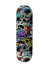 Idea Regalo - Skateboard SkateMax Mod.ENGRAVED Junior per bambini da 8 - 10 anni (SPRAY)