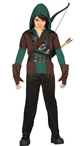 Fancy Me Jungen 4 Stück grün mittelalterlich Bogenschütze Robin Hood Halloween Kostüm Kleid Outfit 5-12 Jahre - Grün, Grün, 5-6 Years