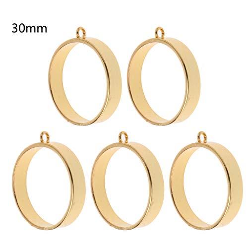 FURU Metals Frames Formen,5 Stücke Runde Rahmen Open Back Blenden Anhänger Blanks Für Harz Schmuckherstellung