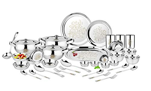 7. Classic Essentials Glory Stainless Steel Dinner Set