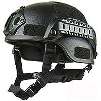 MIRACLEM Tactical Helmet/Easy Action Edition Field CS Casco De Ciclismo,Black