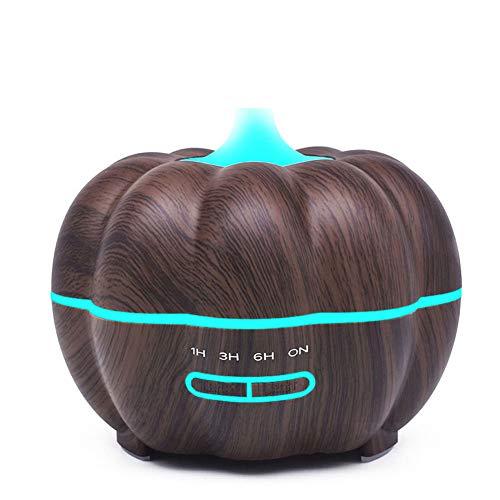 WJ Halloween Kürbis Ultraschall Aromatherapie öldiffusor, 350ml Mini Cold Mist Befeuchter Luftreiniger, Aromatherapie, Schlaf Verbesserung, 7 Farb Lichter,Black