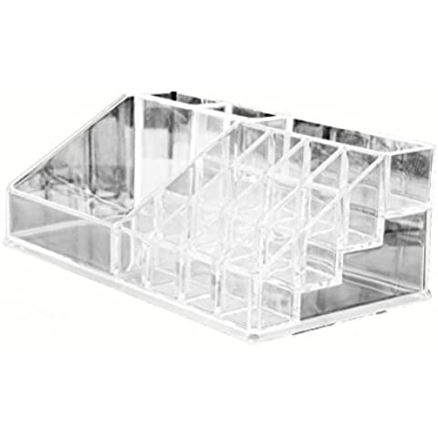WINOMO cosmetici trasparente cristallo Storage Case Box Organizzatore - Caso Poly Trasparente