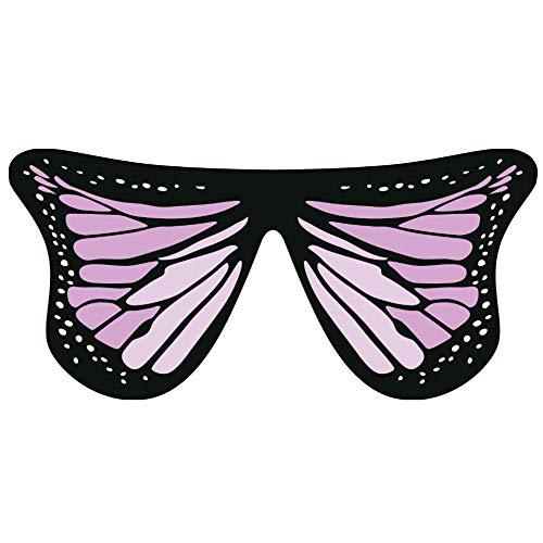 TIFIY Damen Schmetterling Schal, Schmetterlingsflügel Fee Halloween Nymphe -