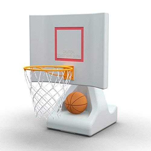 POOL SHOT-Basketballkorb mit pulverbeschichtetem Reifen, Edelstahl-Hardware und 2 Basketbällen - Rock The House