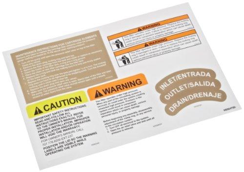 Zodiac R0560600 Sicherheitsetiketten Ersatzset für Select Jandy CJ Kartuschenfilter