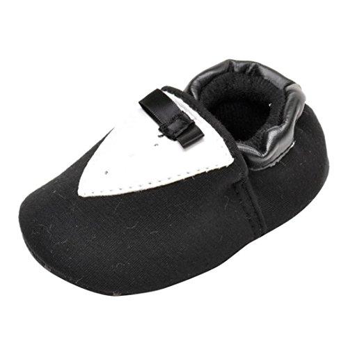 Hunpta Neugeborene Bowknot M盲dchen Schwarz Schwarz Schuhe Warm Lauflernschuhe weiche Prewalker Jungen Babyschuhe Sohle Kinder halten 13 rHIaqxRr