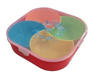 5 Plateaux de rangement box servir 26 x 26 cm-versand set de vaisselle de camping picknickset de conservation