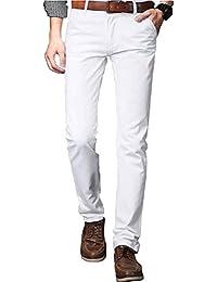 16f4de6ee6 Amazon.it: Bianco - Pantaloni / Uomo: Abbigliamento