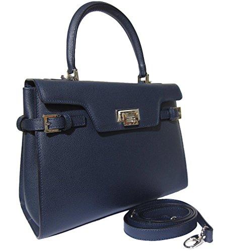 Josephine Osthoff Handtaschen-Manufaktur, Borsa a tracolla donna Blu (blu scuro)