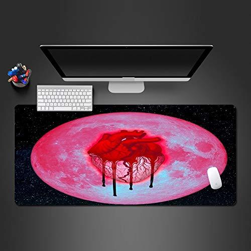 Herz Der Mond Mauspad Gamers Große Spiel Pads Heimcomputer Tastatur Mauspad Zu Gaming Mouse Pad Geschenke 700X300X3Mm - Herzen, Die Sich Kümmern