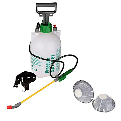 5l-pump-action-pressure-sprayer-and-2-x-face-masks-use-with-water-fertilizer-or-pesticides