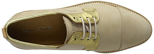 Marc O'Polo Damen 70113843401200 Lace Up Oxford Mehrfarbig (sand/gold)