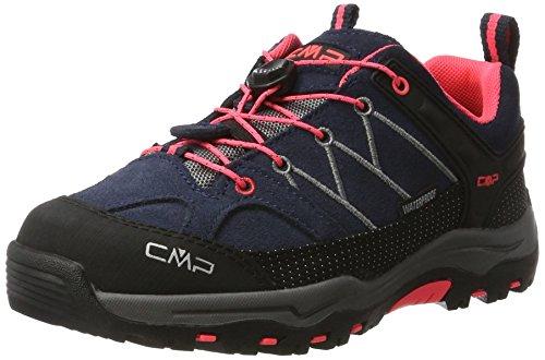 CMP Unisex-Erwachsene Rigel Low Trekking-& Wanderhalbschuhe, Grau (Antracite-Red Fluo 95bd), 36 EU