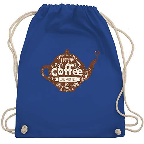Statement Shirts - I Love Coffee Kanne - Unisize - Royalblau - WM110 - Turnbeutel & Gym Bag