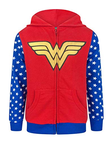 Wonder Woman Logo Girl's Zip-Up Hoodie - Ages 5 to 14 Years