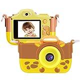 Kriogor Cámara de Fotos para Niños, Juguete Digital Cámara Selfie Flash 2 Pulgadas 16MP 1080P HD Niño Niña Cumpleaños (Tarjeta Micro SD Incluida)