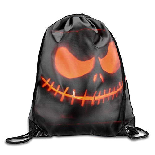ZHIZIQIU 1 Pack Halloween Special Drawstring Backpack Bags Polyester Fabric Folding Shoulder Cinch Bag (Band Husky Halloween)