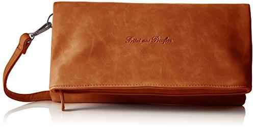 Fritzi Aus Preussen Damen Ronja Clas Clutch, Braun (Terra3), 2x30x30 cm (Fold Bag Leder Messenger)