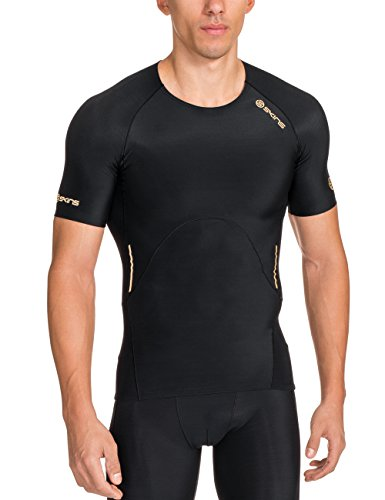 Skins Herren A400 Top Short Sleeve Black, L -