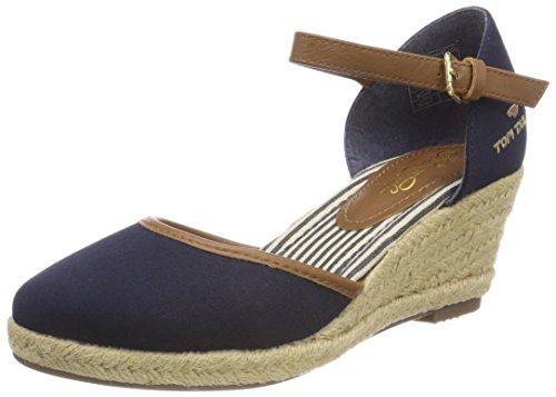 Blu 36 EU Tom Tailor 4890903 Sandali con Cinturino Alla Caviglia Donna x5d