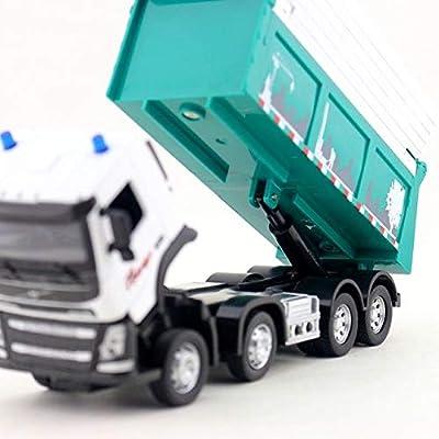 XuBa 1:50 Skala/Diecast Model/Volvo Dump Truck Auto/Engineering Spielzeug/Sound & Light/Pädagogische Sammlung für Kinder/Geschenk/Limited von XuBa