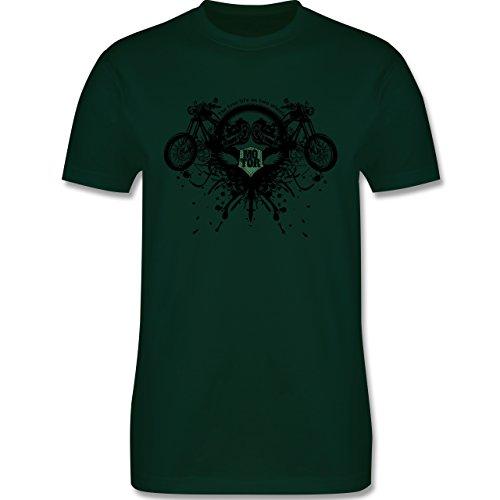 Motorräder - Biker - true life - Herren Premium T-Shirt Dunkelgrün