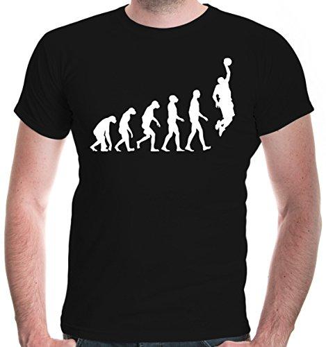 Shirt The Evolution of Basketball | Development Ballsport Fanshirt Trikot | L, Schwarz ()