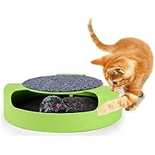 Gioco per gatti 25cm acchiappa il topo duplice funzione con tiragraffi. MWS