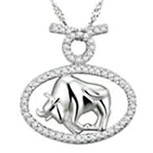 Bishiling Schmuck 925 Sterling Silber Kette Anhänger Damen Taurus CZ Charm Silber (Bethlehem Kostüme)