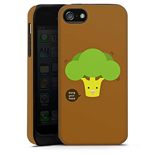 Apple iPhone 5 Housse étui coque protection Brocoli Légume Smiley Cas Tough terne